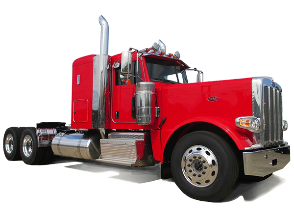 red peterbilt semi